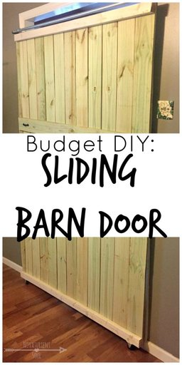 DIY: make your own sliding barn door on a budget! - NovaturientSoul.com
